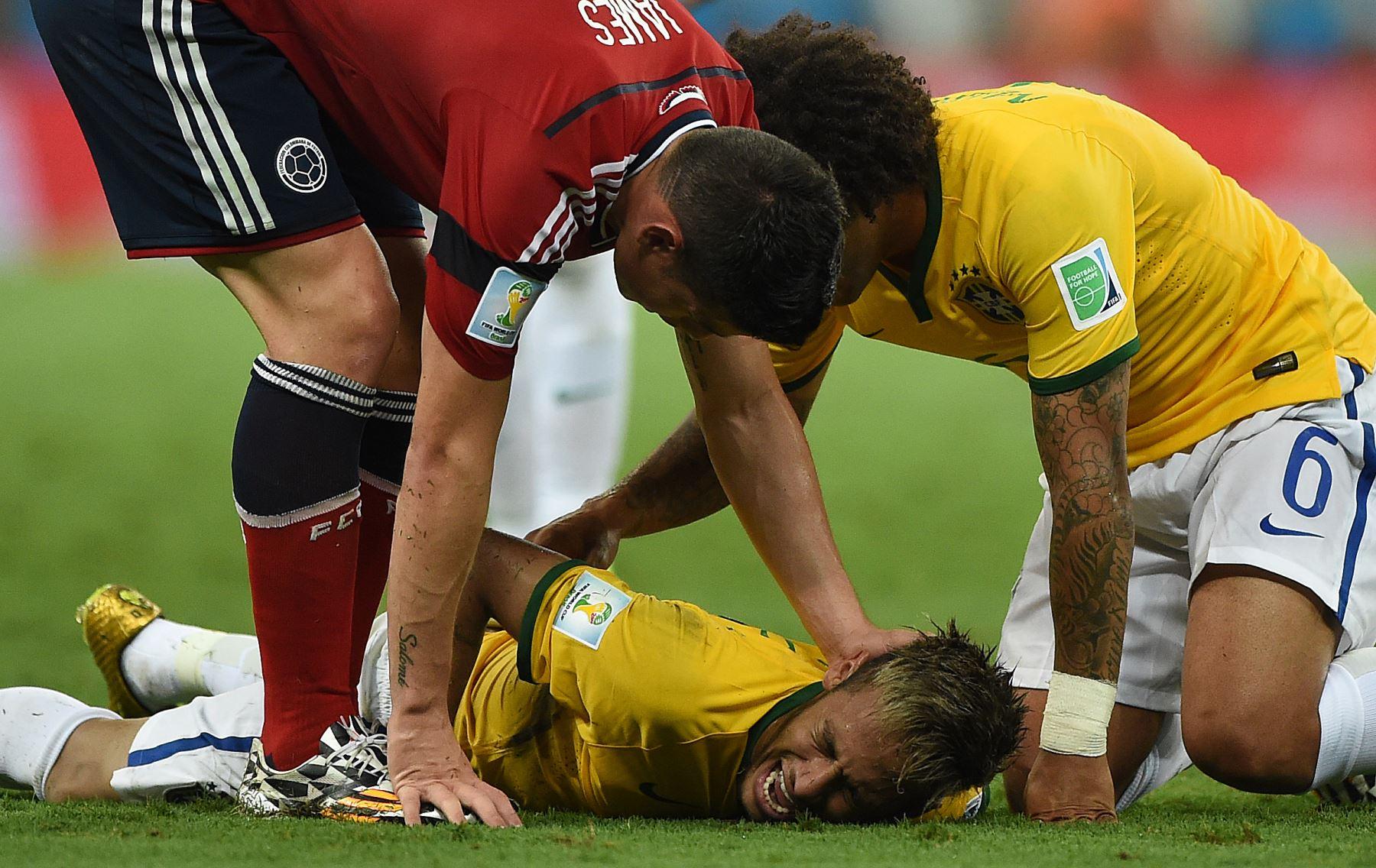 Lesión de Columna de Neymar